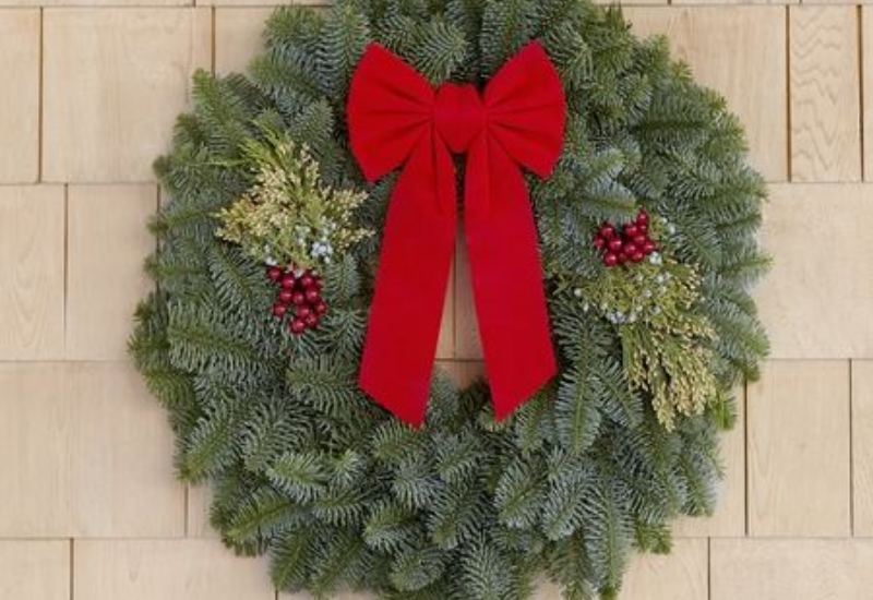 22 Inch Mixed Evergreen Wreath