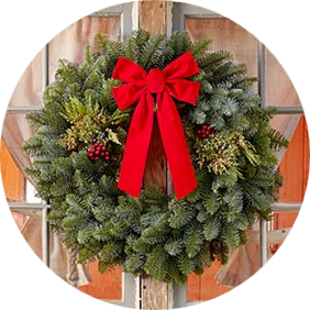 28 Inch Mixed Evergreen Wreath