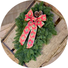 Holiday Gift Door Swag
