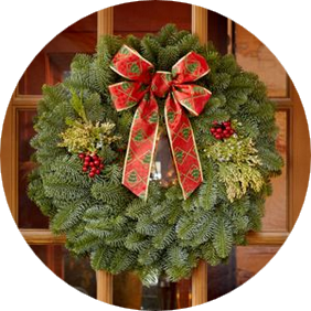 22 Inch Mixed Evergreen Gift Wreath
