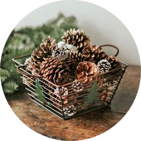 Holiday Cone Gift Basket