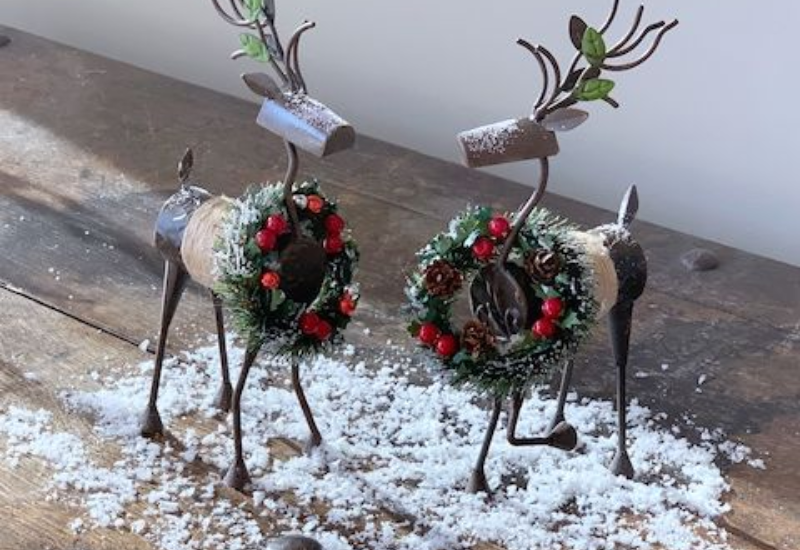 Snowy Holiday Reindeer Set