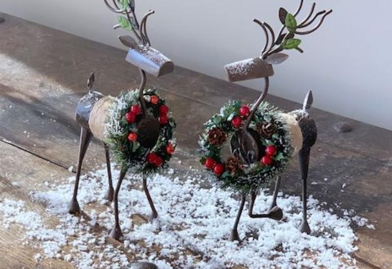 Snowy Holiday Reindeer Set